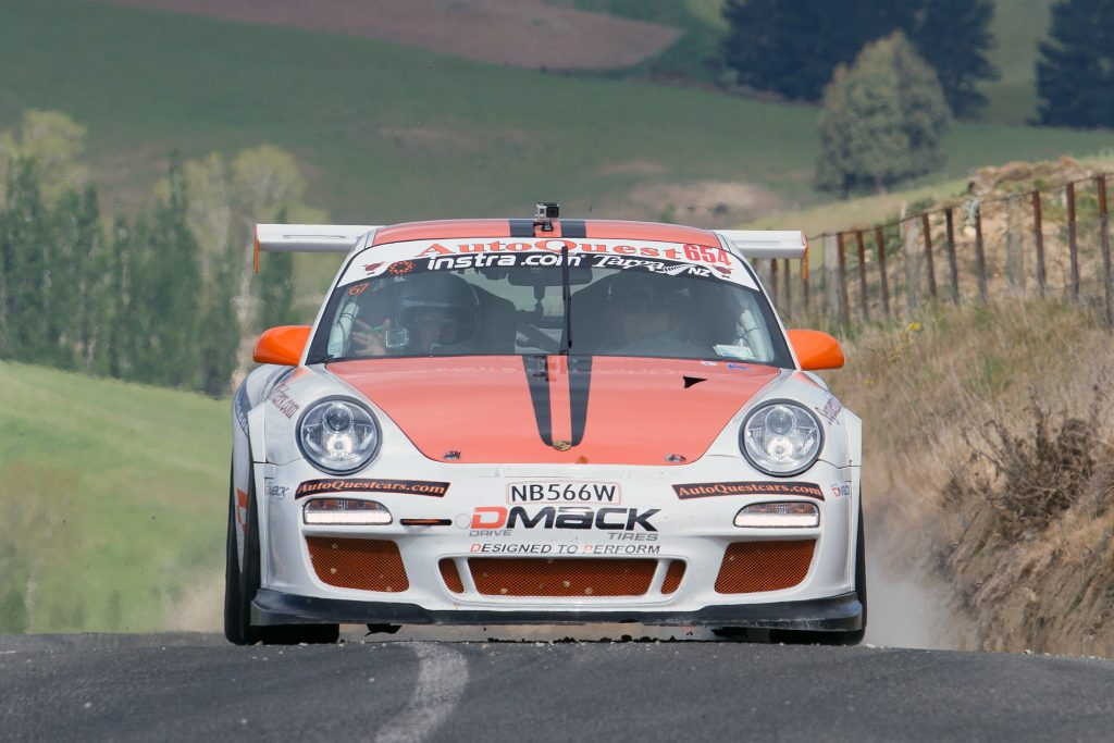 Unlucky not to win after dominating the Instra.com Modern 2WD class until slowed by a holed muffler were Gavin and Amy Riches in their Porsche GT3 Cup car.
