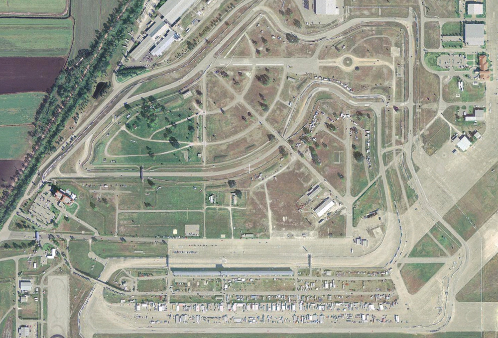 Satellite image of the Sebring International Raceway